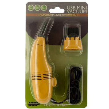 USB Mini Vacuum with Brush Attachment ( Case of 12 )