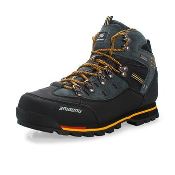 Winter Mountain Leather Waterproof Climbing Boots