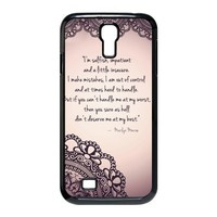 New I AM SELFISH Hybrid Hard Back Case Cover Skin For Samsung Galaxy S4 IV i9500+VAMVAN CLEANING CLOTH