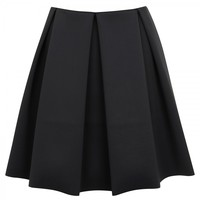 Pleated neoprene skirt