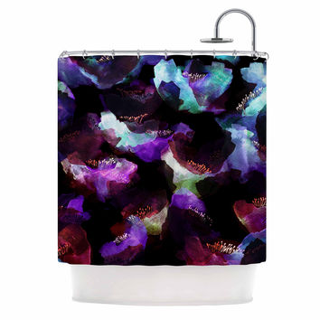 "Jessica Wilde ""Watercolour Poppy"" Multicolor Abstract Shower Curtain"