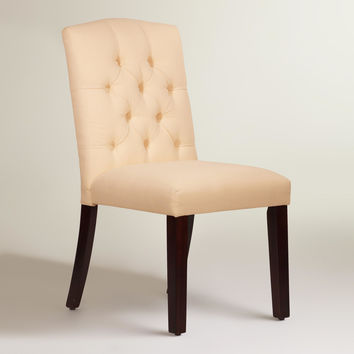 Twill Tufted Zoey Dining Chair - World Market