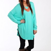 The Aiden Tunic, Turquoise