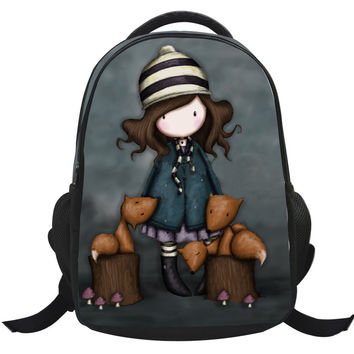 Fashion Cartoon Girl Children Nylon Printing Bags For Teenage Girls Cute Anime Backpack Female Mochila School Scholl Bookbag