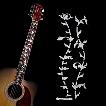Electric Acoustic Guitar Tree of Life Stickers Bass Inlay Decal Ultra Thin Fretboard Sticker For Guitar Accessories