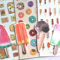 ice cream Ice pop sticky note popsicles iced dessert die cut sticky memo paper label reminder summer on a sticker paper decor sticker gift