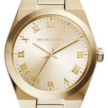 Women's Michael Kors 'Channing' Barrel Chain Bracelet Watch, 38mm