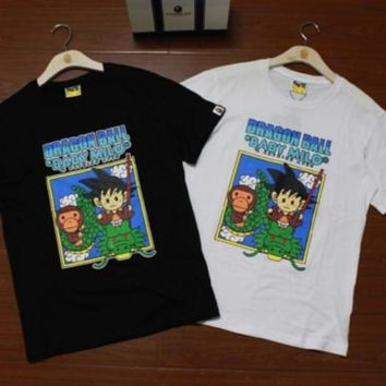Men's Aape Japan Bape Dragon Ball Cartoon Cotton Baby Milo Ape Classic T-Shirt