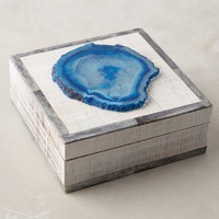 Agate-Topped Jewelry Box