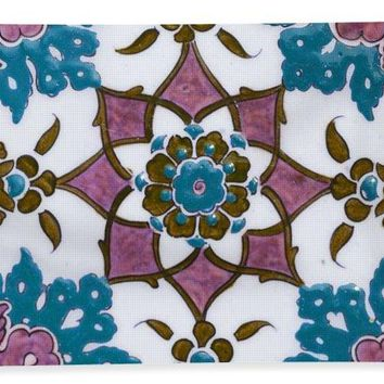 An Ottoman Iznik Style Floral Design Pottery Polychrome, By Adam Asar, No 13h - Bath Towel