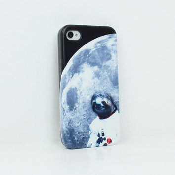 Moon Sloth . iPhone 4 case . iPhone 5 case