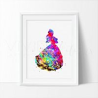 Belle 4, Beauty and the Beast Watercolor Art Print