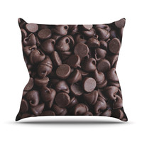 "Libertad Leal ""Yay! Chocolate"" Candy Throw Pillow"