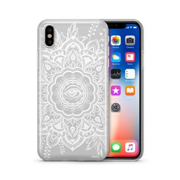 Henna Floral Eye - Clear Case Cover Phone Case