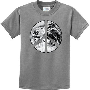 Buy Cool Shirts Kids Peace T-shirt Earth Satellite Symbol Youth Tee