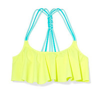 Knotted-Back Flounce Crop Top - Victoria's Secret