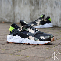 Custom Hand Painted Atmos Camo Print Nike Huaraches Shoes