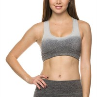 Premium Seamless Activewear Ombre Yoga Workout Sports Padded Bra