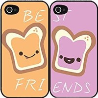 Peanut Butter and Jelly bff Set of 2 Best Friend Plastic Phone Case Back Covers iPhone 5 5s