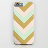 v lines - mint mocha iPhone & iPod Case by Her Art | Society6
