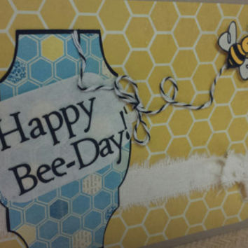 Handmade Happy birthday day Happy Bee-Day theme