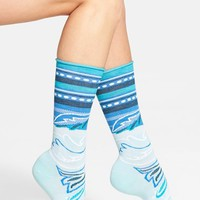 Women's SmartWool 'Feather Falls' Mid Calf Socks