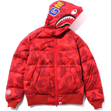 COLOR CAMO SHARK HOODIE DOWN JACKET /AP