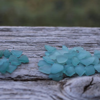Light Blue Sea Glass Teal Sea Glass Tiny 50 pcs