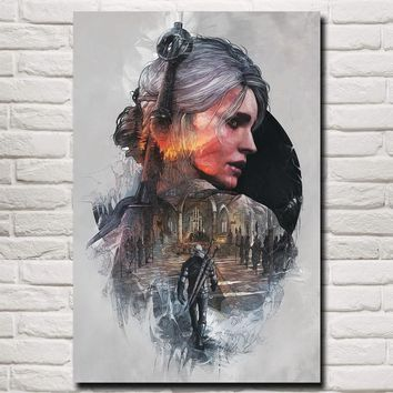FOOCAME The Witcher 3: Wild Hunt Cirilla Fiona Elen Riannon Art Silk Poster Prints Home Wall Decor Painting 12x18 24x36 Inches