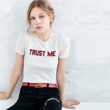 Fashion Simple Letter Print Round Neck Short Sleeve Women T-shirt Tops