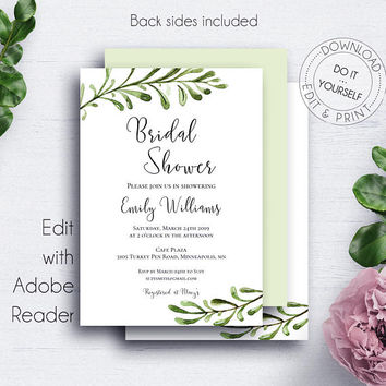 Best bridal shower invitation templates products on wanelo rustic printable bridal shower invitations template diy weddi filmwisefo