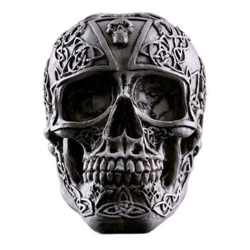 Topic Indoor Furnish Resin Skull Human Skeleton Statue Halloween Tricky Toys