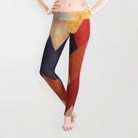 Eccentric Mountains Leggings by Diogo Verissimo