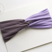 Baby Twisted Turban Headband  2 Coloured Baby Headband PURPLE LAVENDER Toddler Headband