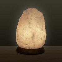 Himalayan Salt Lamp - White - 8 inch