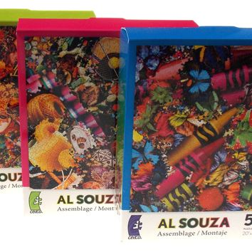 Ceaco Al Souza Montage Jigsaw Puzzles Set 3 550 Pieces 20x20 Made USA