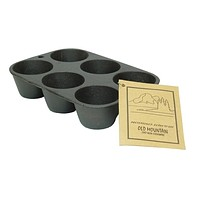 Old Mountain Cast Iron Preseasoned Muffin Pan 6 Impression