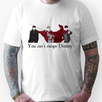 Mordred, Arthur, and Merlin.  Unisex T-Shirt