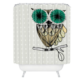 Gabi Hoot Shower Curtain