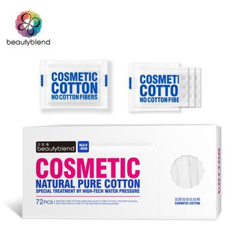 Beautyblend Brand R-8031 Cosmetic Pads 72 pcs per Bag Supper Soft Extraction Type Wet and Dry Dual Purpose Makeup Cotton Pads