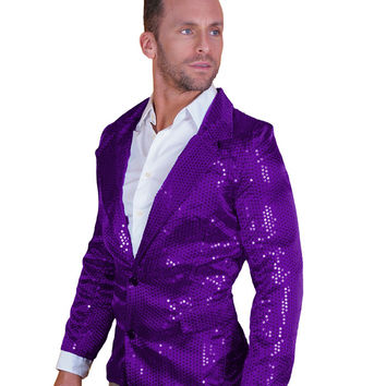 Purple Sequin Disco Jacket