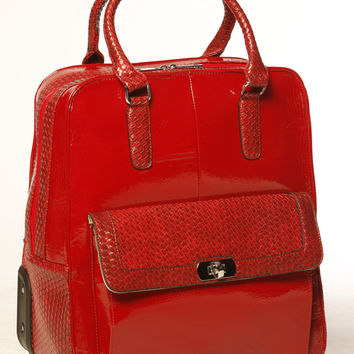 """THE PATENT"" Rolling iPad, Tablet or Laptop Carryall Bag"