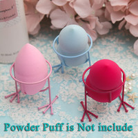 1pcs Makeup Sponge Display Powder Puff Stand Cosmetic Sponge Holder Cute Chicken Feet Shape Makeup Organizer Makeup Tools #88354