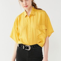 Urban Renewal Recycled Silky Short Sleeve Shirt | Urban Outfitters