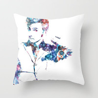 The Tenth Doctor Throw Pillow by NKlein Design | Society6