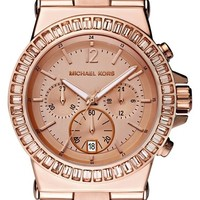 Michael Kors 'Dylan' Crystal Bezel Chronograph Watch, 43mm