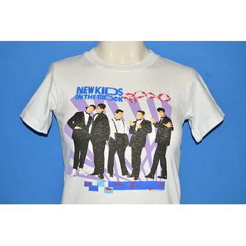 80s New Kids On The Block Puffy Paint Deadstock t-shirt Youth Medium