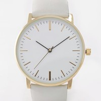 ASOS Clean Leather Strap Watch