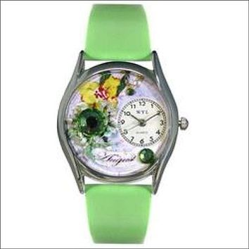 Birthstone Jewelry: August Birthstone Watch Small Silver Style
