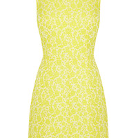 | Yellow Emma A-Line Jacquard Dress | Oasis